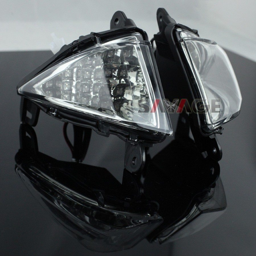 Front LED Turn Signal Indicator Lights Blinker For KAWASAKI ZX6R ZX10R Z750 Z1000 NINJA 650R ER6N ER6F Motorcycle Accessories