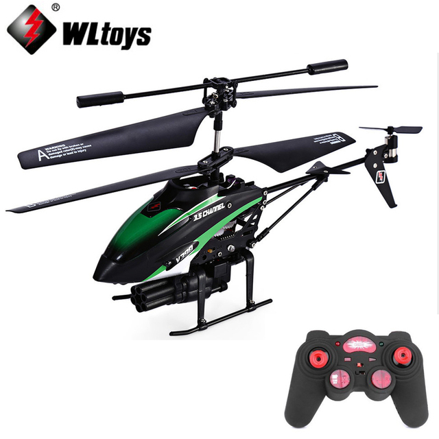 Wltoys V398 Rc Drone Helicopter Toys For Boys 35 Ch Missiles
