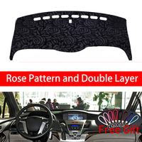 Rose Pattern For Honda odyssey 2004 2005 2008 Dashboard Cover Car Stickers Car Decoration Car Accessories Interior Car Decals