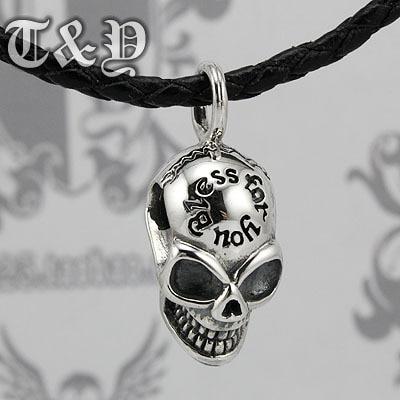 T & y silver pure silver 925 pendant thai silver skull male pendant angel wings silver pendant necklace goths male vintage 925 thai silver pendant pure silver