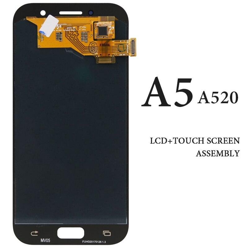 Pour Samsung Galaxy A5 2017 A520 A520F écran LCD 5.2 pouces AMOLED SM-A520F écran tactile noir blanc or rose panneau de remplacement