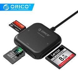ORICO 4 in 1 USB 3.0 Lettore di Smart Card Flash Multi Memory Card Reader per TF/SD/MS /CF 4 Card di Lettura e Scrittura Contemporaneamente-CRS31A