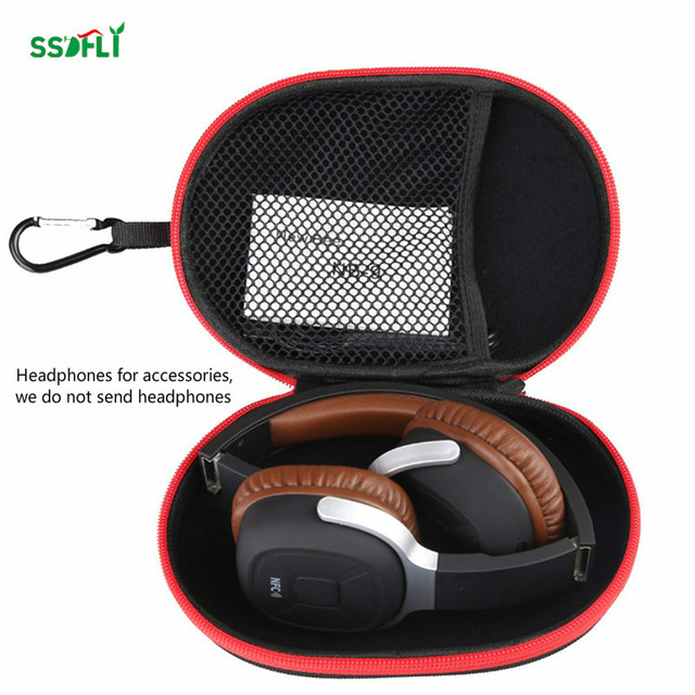 super compression EVA material headset box accessories zipper storage box high quality headset bag built-in small net bag