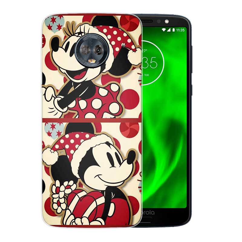 Silicone Hull Shell Back Case For Motorola MOTO G5 G5S G6 G4 E4 E5 Plus X4 Riverdale Cover Christmas Mickey Minnie in Fitted Cases from Cellphones Telecommunications