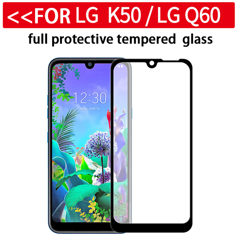 Image 2 - Full Tempered Glass on the for LG Q60 Q6 Q 60 6 safety protective glass for LG q6 lgq6 M700N lgq60 screen protector 9H glas film-in Phone Screen Protectors from Cellphones & Telecommunications