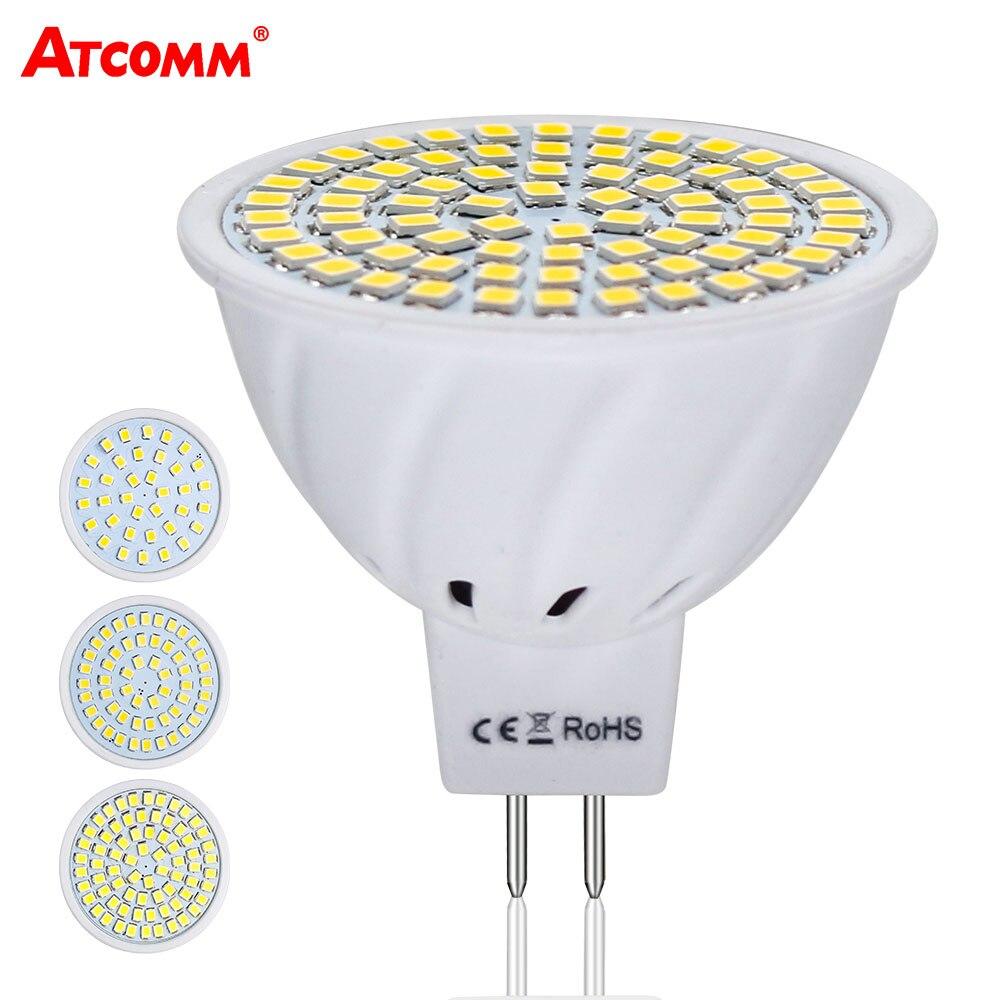 MR16 светодиодные лампы 12 В 4 Вт 6 Вт 8 Вт Ампуле LED MR16 прожектор лампы 110 В 220 В 36 54 72 светодиодов SMD 2835 Чип высокая яркость без мерцания