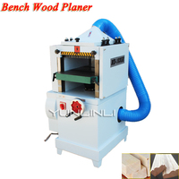 Bench Wood Planer 380V High Speed Single Face Woodwoking Planer Multifuction Woodworking Thicknesser & Wood Wire Dual Machine