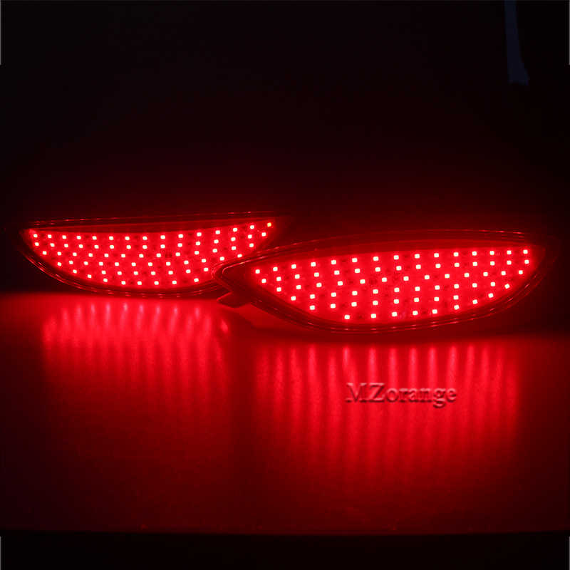 Pare-chocs arrière réflecteur feux de freinage pour Hyundai Accent Verna Brio Solaris 2008-2015 rouge lentille LED ampoule voiture avertissement arrêt antibrouillard