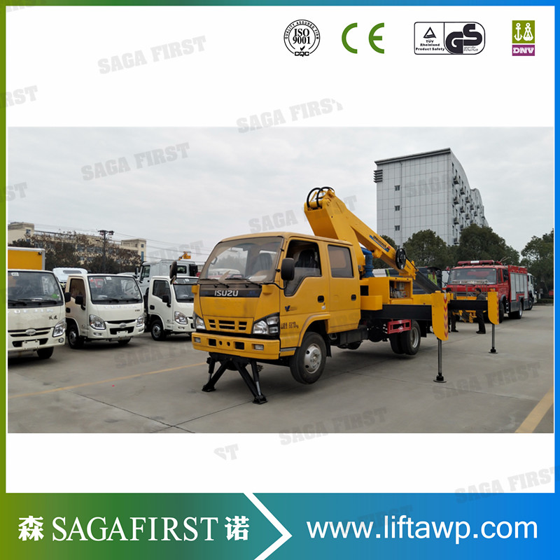 360degree Rotation Horizontal Reach Diesel Articulating Cherry Picker