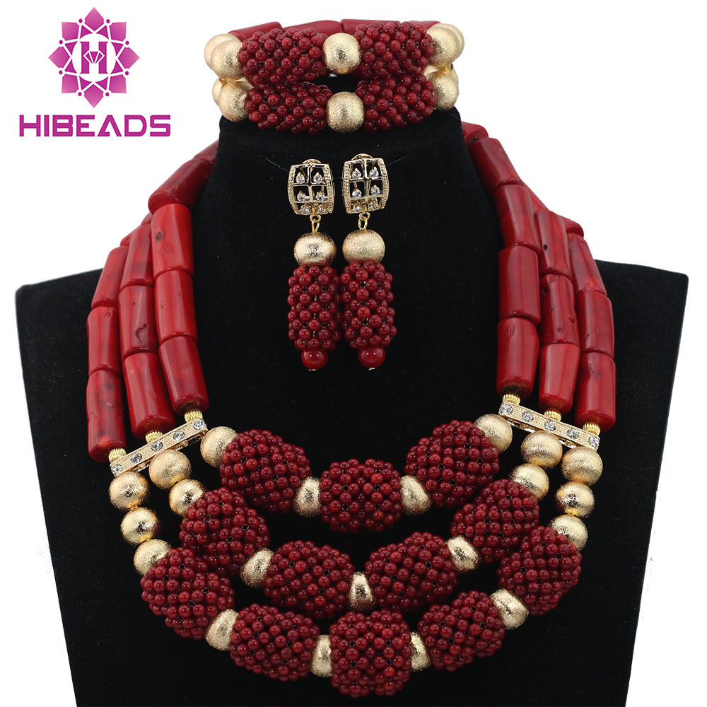 Hot Sale Amazing Red Coral Beads Necklace Jewelry Set Natural Coral Wedding Brides Statement Jewelry Set Wine Red Gift ABL722 7 пряди red coral