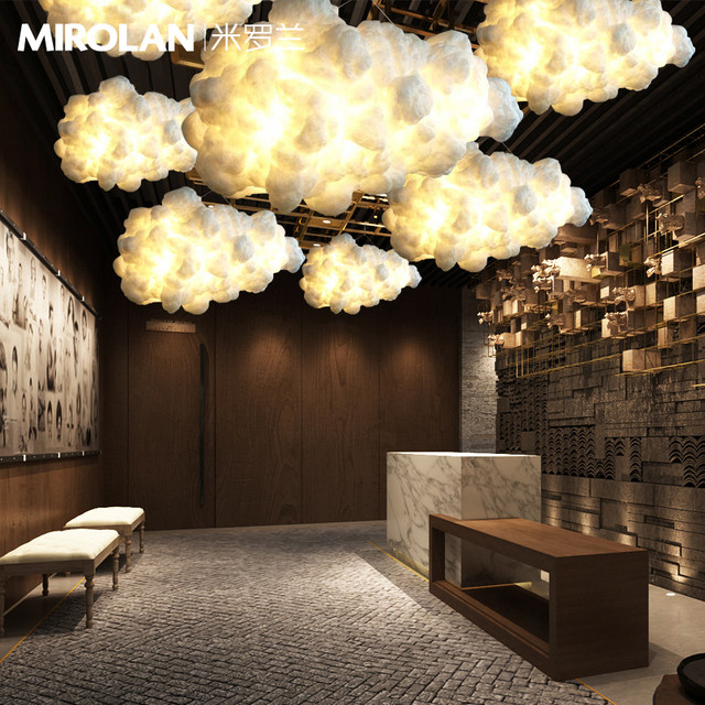 Exceptional Pendant Lights Modern LED Postmodern Ideas Floating Light Fixtures Cafe Bar  Lamps Decorated Cloud Hanging Lights