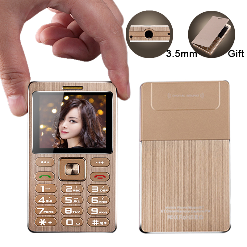 A10 mini metal tarjeta de teléfono anti perdido Cámara gratis MP3 3,0 bluetooth BT dial 3,5mm jack cámara remota M5 C6 Alek estudiante teléfono P273