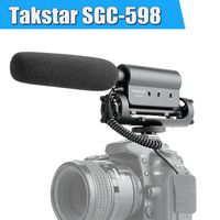 Takstar SGC 598 Photography Interview professional Conference Shotgun 3.5 external Microphone for iphone Nikon Canon DSLR Camera