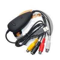 Ezcap172 USB 2.0 Video Grabber Captura, convertir Vídeo Analógico de TV grabadora de vídeo, Reproductor de DVD VHS para PC Portátil Soporte Win 10