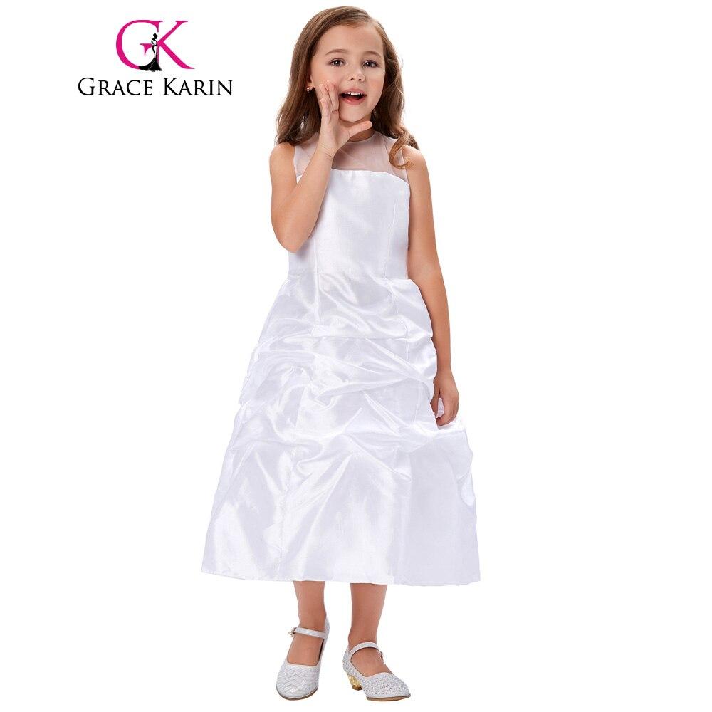 Grace karin lange weiß erstkommunion kleid für mädchen 2017 ...