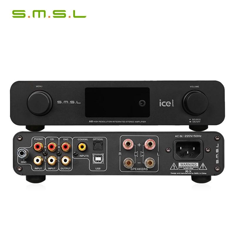 SMSL A6 HiFi AK4452 50Wx2 DSD512 384KHZ/32Bit DAC Digital Amplifier