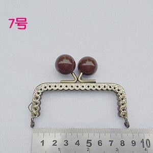 Image 5 - 8.5 cm renkli şeker topu öpücük toka mini düz tırtıllı çanta çerçeve sikke çanta yapımı metal toka donanım 10 adet/grup