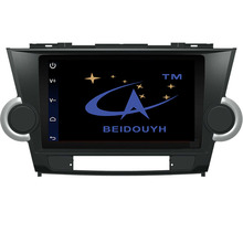 "BEIDOUYH 9"" Android Car Radio Navigators for TOYOTA Highlander 2009-2014 GPS navigation/OBD/DVR/BT Support Front/Rear Record"