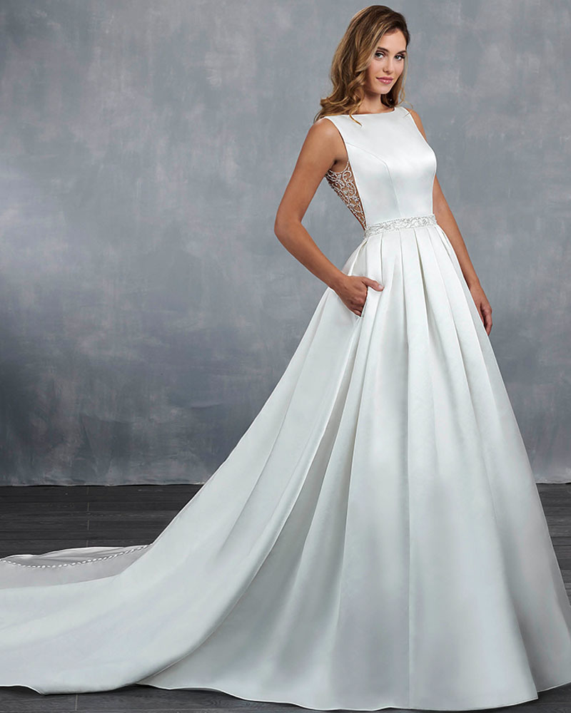 cd1c5239f35ef8 Robe De Mariee 2019 New Arrivals Sexy Open Back Shiny Beading Sequined Best  France Satin Bridal Wedding Dresses Hochzeitskleid ~ Best Seller July 2019