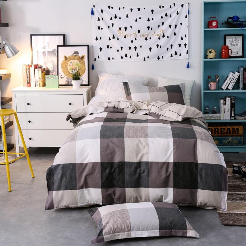 3 pçs tamanho gêmeo de alta qualidade 100% algodão moda simples impresso conjunto cama confortável conjunto capa edredão folha fronha - 3