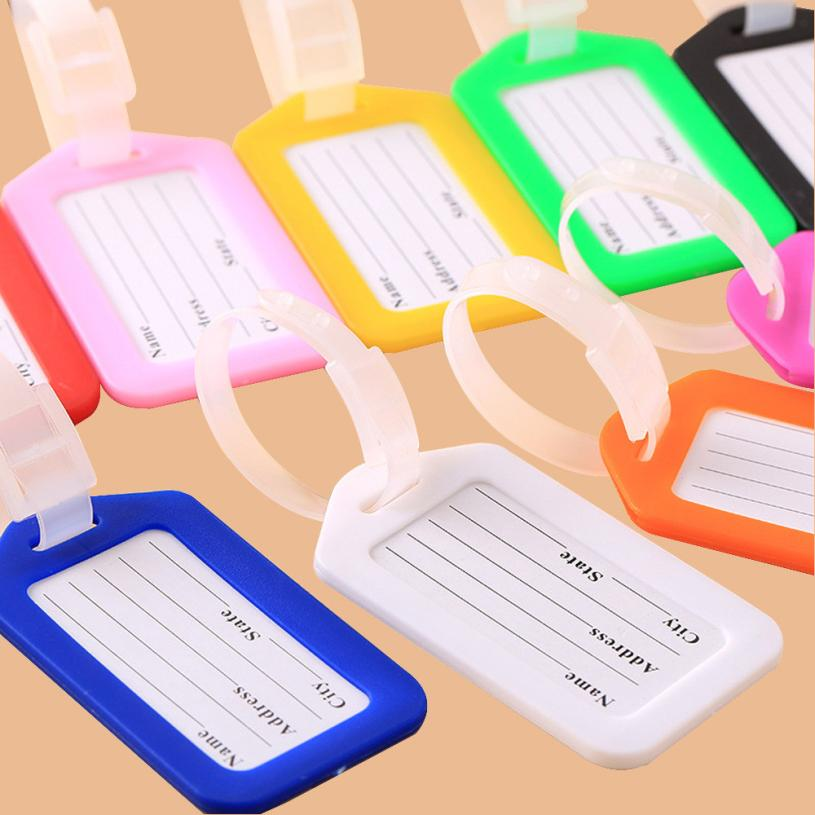 Plastic pp Travel Luggage Bag Tag boarding pass board Checked card Name Address ID Label Plastic Suitcase Baggage Tags
