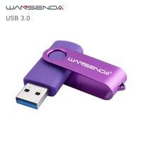 WANSENDA-unidad Flash USB 3,0, Pendrive con diseño giratorio, 256GB, 128GB, 64GB, 32GB, 16GB, 8GB, 4GB