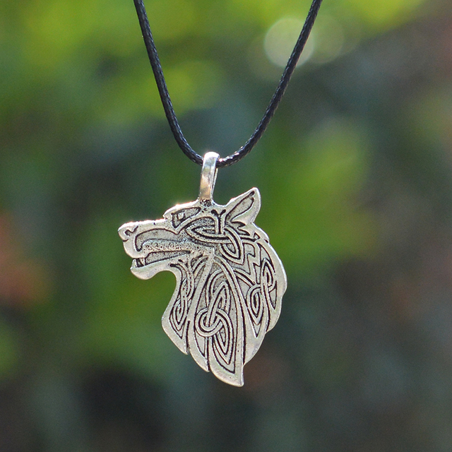 Wolf Fox Eagle Norse Viking Necklace