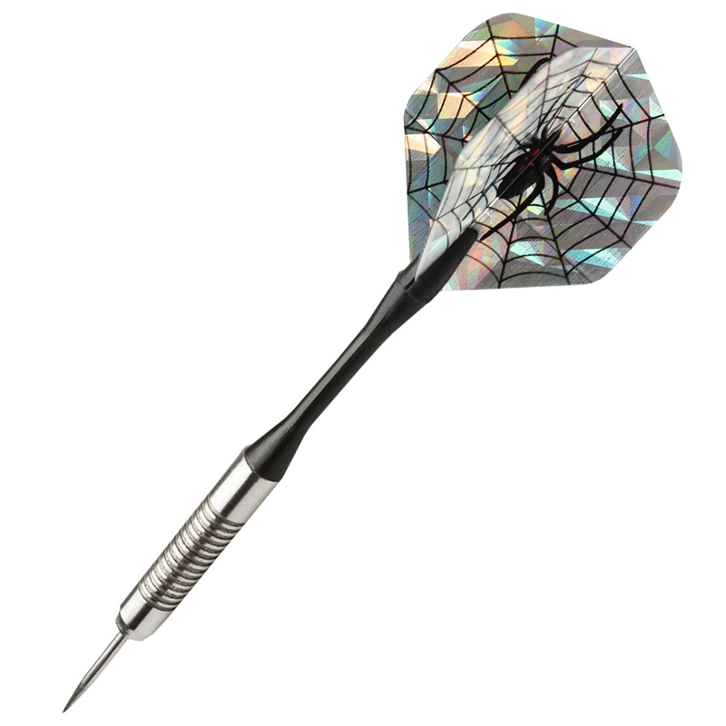 Hot Sale 3Pcs 2D Bling Cool Sports PET Darts Flights Laser Black Spider Tail Wing Bullseye Target Game Darts Accessories Gadgets
