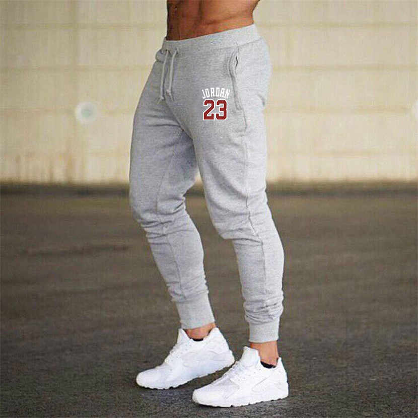 2019 new men joggers jordan 23 캐주얼 남성 운동복 그레이 조깅 옴므 바지 스포츠 의류 보디 빌딩 바지