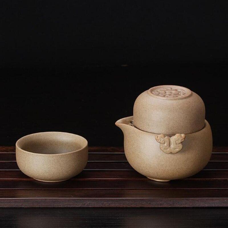2018 drinkware Ceramic coffee tea sets chinese kung fu tea set 1 Teapot+2 Cups portable travel tea set
