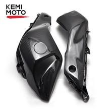цены KEMiMOTO Carbon Fiber Upper Side Air Intake Ram Scoop Panel Fairing For Yamaha FZ07 MT07 2014 2015 2016 Motorcycle FZ-07 MT-07