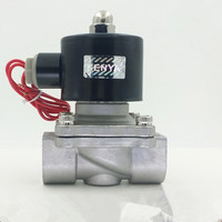 1 1/4 1 1/2 2 220V DC12V DC24V Stainless Steel 304 water valve DN35 DN40 DN50 Electric Solenoid Valve for Water Oil Air Gas