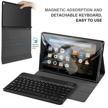 "Für Amazon Kindle Feuer HD10 10,1 ""Fall 2015 2017 UNS UK Deutsch Bluetooth Tastatur Leder Tablet Fall Drahtlose Tastatur tasche Capa(China)"