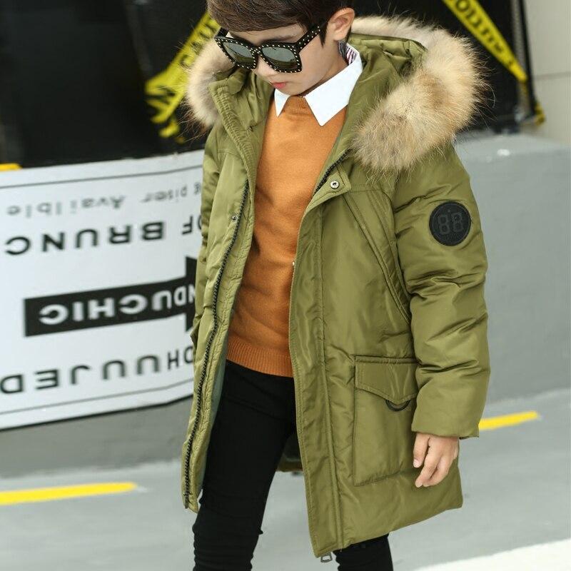 Пуховики для мальчиков брендовая куртка для детей зимние пальто с капюшоном меховой воротник куртки для мальчиков верхняя одежда пальто те...