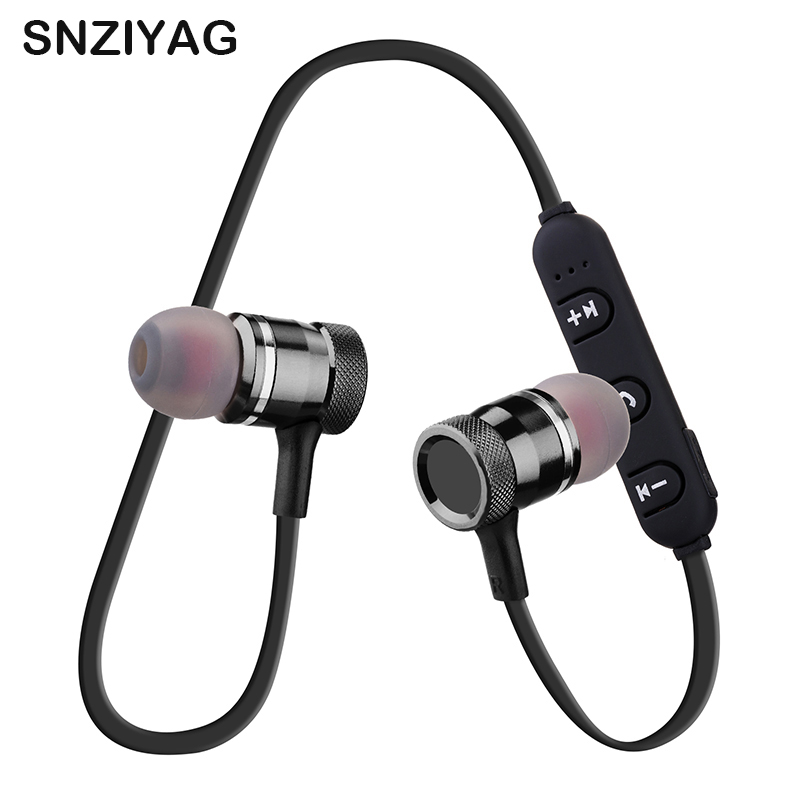 SNZIYAG LY-11 Sport Running Stereo Bluetooth Wireless Headphone Magnet Earbuds With Microphone Earphone Headset For iPhone