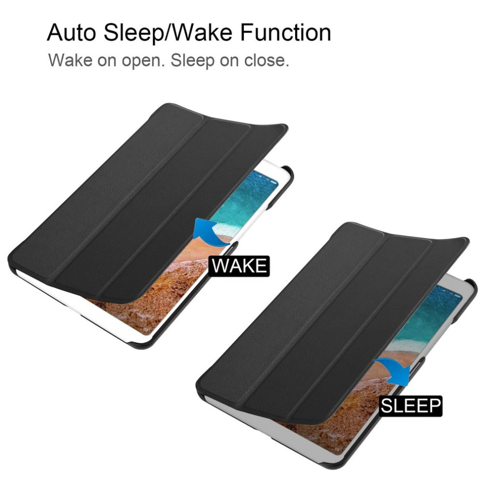 Smart Flip Leather Case Auto Sleep/Wake Tablet Stand Cover Shockproof Anti-scratch Protective Case for Xiaomi Mi Pad 4 8inch