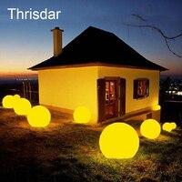 Oplaadbare Afstandsbediening RGB Kleurrijke LED Drijvende Bal verlichte zwembad bal licht IP68 Outdoor Tuin Licht