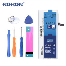 Original NOHON Battery For iPhone 6S 6GS Replacement Lithium Polymer Batteries Real Capacity 1715mAh Free Tools