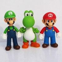 Лидер продаж, 3 шт. Super Mario Bros Луиджи Марио Фигурки Игрушки подарочный набор