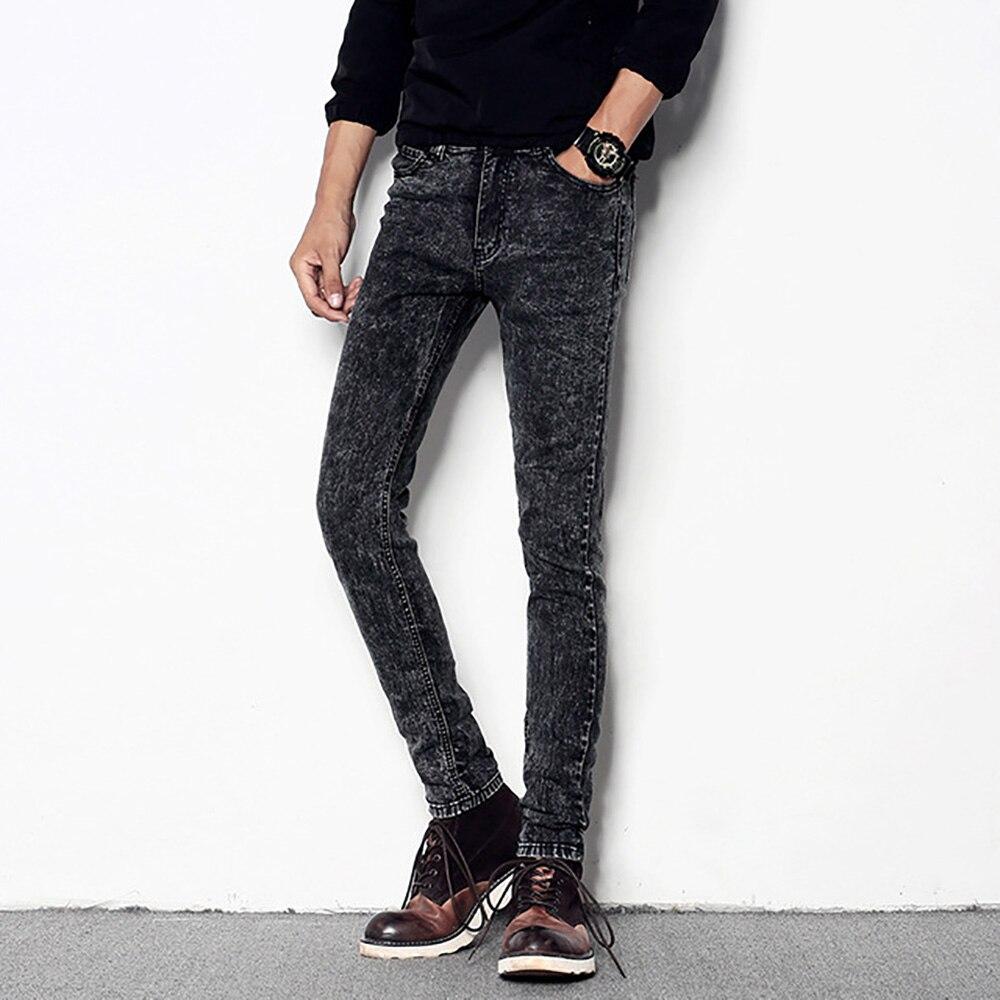AudWhale Men's Stretch Black   Jeans   Casual Slim Fit Denim Trousers For Men Mid Waist Men Skinny   Jeans   Pencil Pants