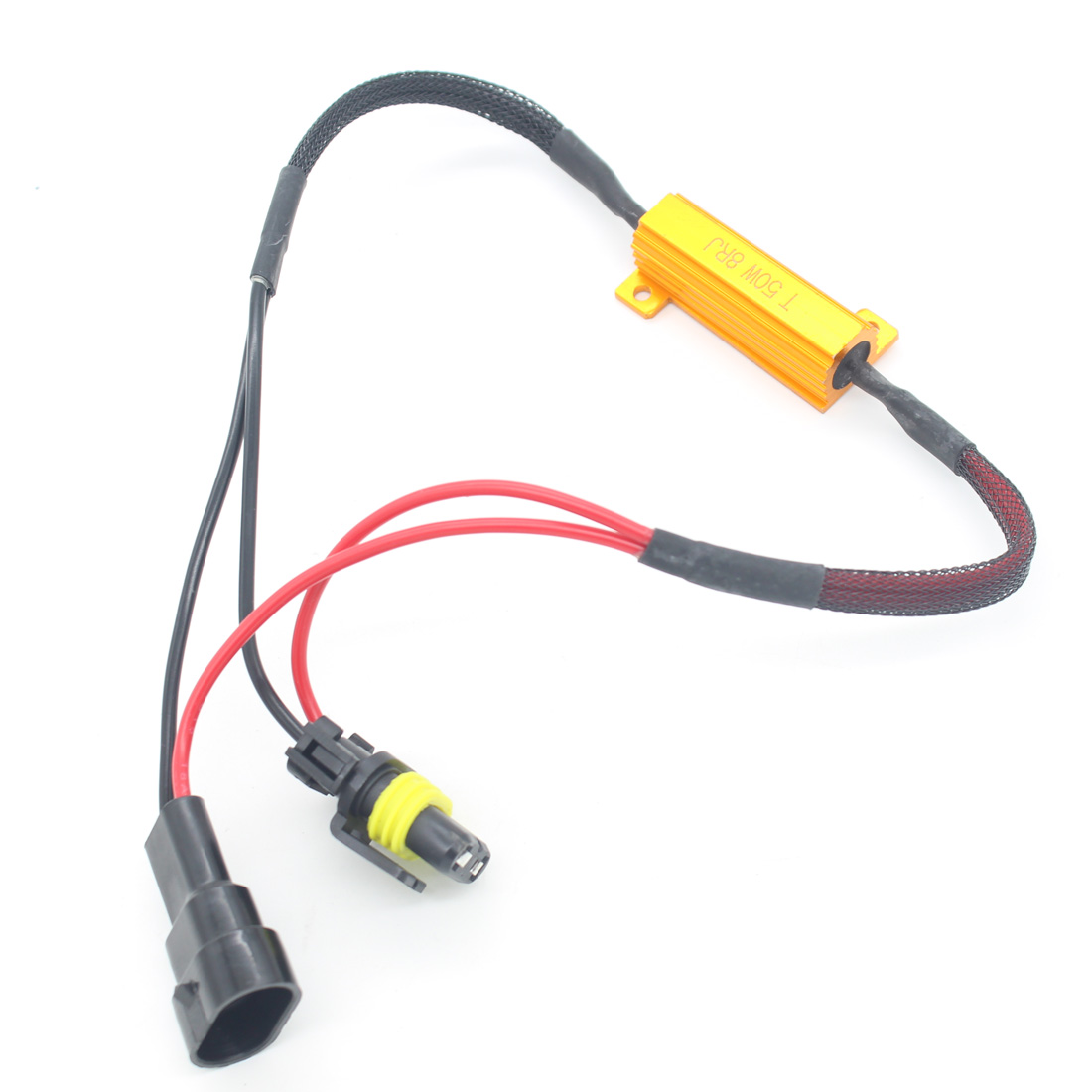 Car LED Fog Light lamp Load Resistor Canbus Error Free Wiring Canceller Decoder 9006 HB4 Car Styling Motorbike DRL Xenon HID 2pcs car led headlight decoder fog light drl no error load resistor no flickering warning canceller 9005 9006 hb3 hb4