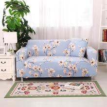 Мягкий спандекс упругой полный диван покрытие диван чехол один/два/три/четыре местный цветы печатных протектор диван covers make up