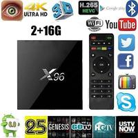 X96 Professional Set Top TV BOX S905X 4K 1G 8G 2 16GFor Android 6 0 Quad