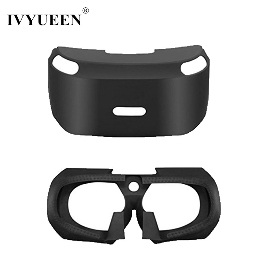 все цены на IVYUEEN Anti-slip Silicone Skin for PS VR 3D Viewing Glass Protective Case For PS4 VR PSVR Headset Cover for PlayStation VR онлайн