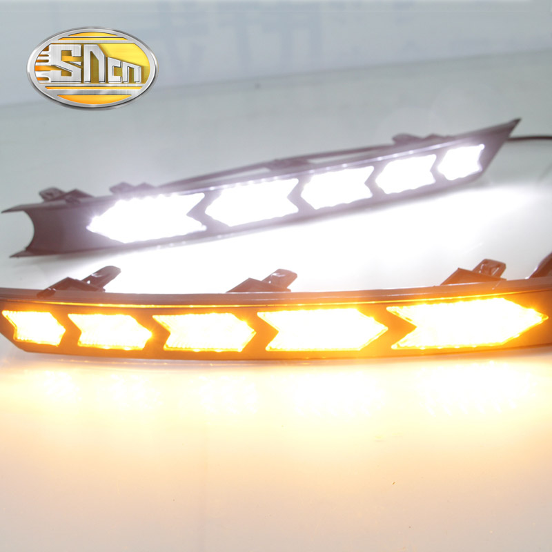 SNCN LED Daytime Running Light For Mazda CX-5 CX5 2017 2018,Car Accessories Waterproof ABS 12V DRL Fog Lamp Decoration