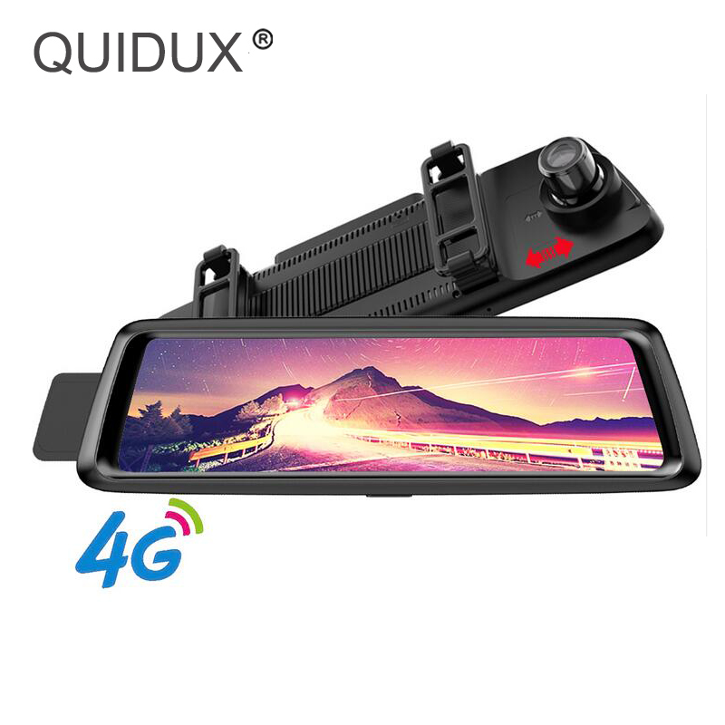 QUIDUX Видеорегистраторы для автомобилей 4 г Android 10 ips полный зеркало gps навигации ADAS FHD 1080 P Зеркало заднего вида Камара автомобиля видео регист