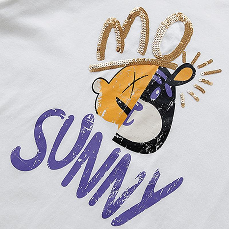 Women t shirt Summer loose tshirt Cartoon print O neck short sleeve vogue cute shirt oversize New arrive fashion brand 2019 in T Shirts from Women 39 s Clothing