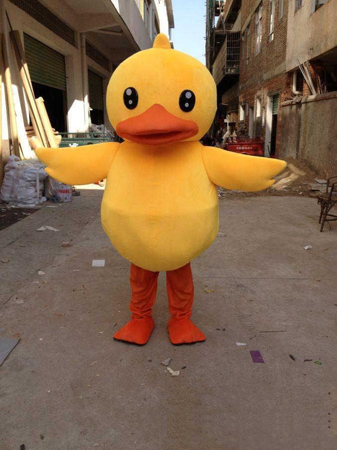 Заводская распродажа Лидер продаж Большой Желтая резиновая утка маскоты костюм мультфильм для выступлений Бесплатная доставка