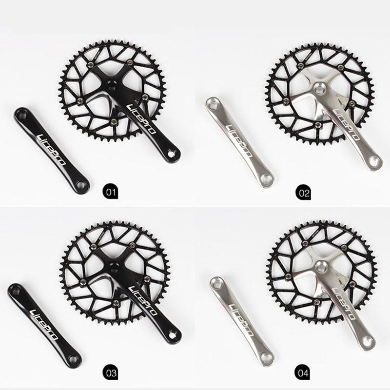 Litepro creux BMX pliant vélo pédalier Bcycle ultra-léger 130 BCD 50 T 52 T 54 T 56 T 58 T vélo chaîne roue plateau