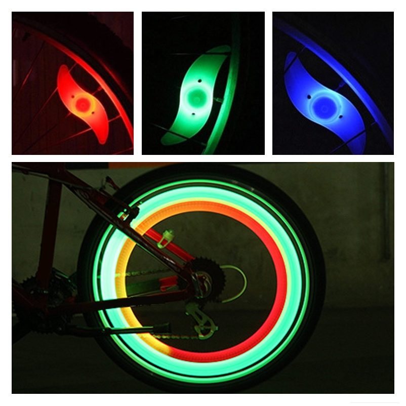 LED Bicycle Bike Cycling Wheel Light String Strip Mountain Fire Wheel Lamp New